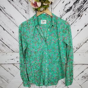 Anthro Holding Horses Floral Shirt 4